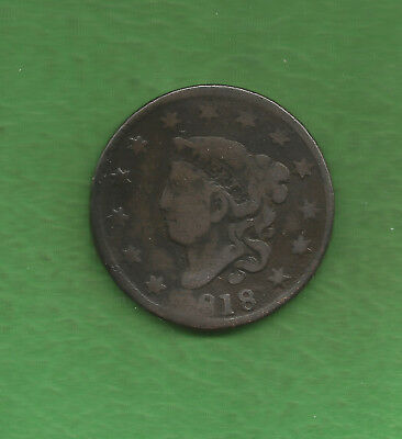 1818 Matron Head, Large Cent - 200 Years Old!!!