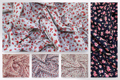 Floral Print Cotton Poplin Fabric CP0315-M