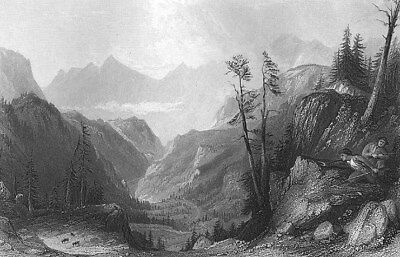 PYRENEES AIGUES TORTES NATIONAL PARK ANDORRA HIKING ~ 1865 Art Print Engraving