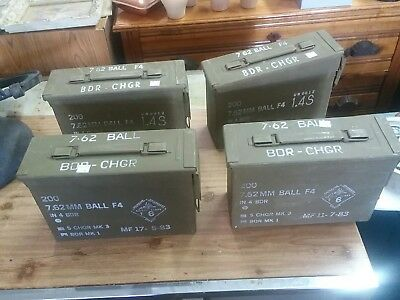 4 Pack 30 Cal Ammo Can Box  Army Military mf 11 7 83 Metal Storage 7.62 MM