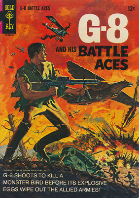 G-8  AND HIS BATTLE ACES #1 VG/F, Based on Pulp, Gold Key Comics 1966