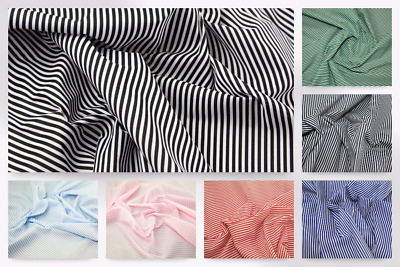 Mini Stripe Print Polycotton Dress Fabric (Design-CandyStripe-M)