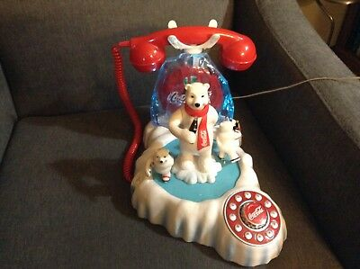 Coca-Cola Polar Bear Animated Phone!  Baby Bears Skate, Momma Drinks Coke! Nice!