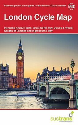 London Cycle Map 53 Incl Avenue Verte, Great North Way, Downs & Weald plus...