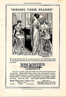 1911 Singing Praises Of Royal Worcester Corsets Ad