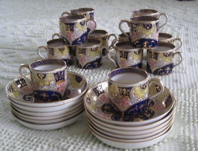 14 AB Jones and Son Royal Grafton Coffee Cups and Deep Saucers 1900-1913