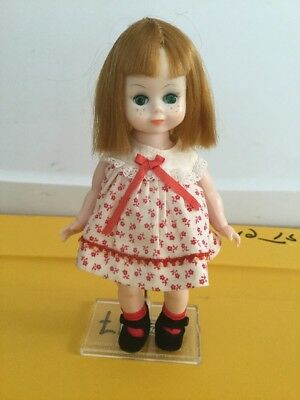 """Vintage Madame Alexander 8"""" Marked ALEX doll Maggie Mix-up 1960 In Outfit"""