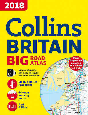 2018 Collins Big Road Atlas Britain, Collins Maps