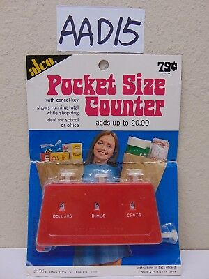 Vintage Alco Pocket Size Counter In Package Nymon & Son Japan Made Adds 20.00
