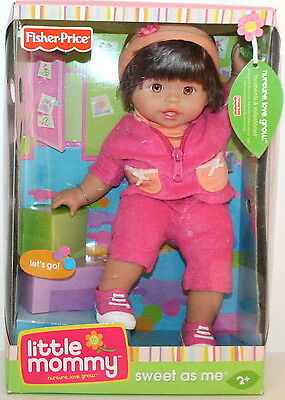 """Lets Go"" Pink Sweet As Me Retired Brunette Little Mommy Doll Fisher Price NEW"