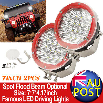 """2X7"""" 3600W CREE Spot Beam LED Driving Lights Truck Jeep Ford SUV HID Replace 9"""""""