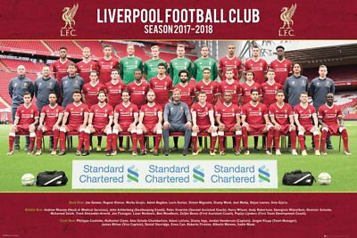 Liverpool FC Poster - Team 17/18 - New Liverpool Football poster SP1493