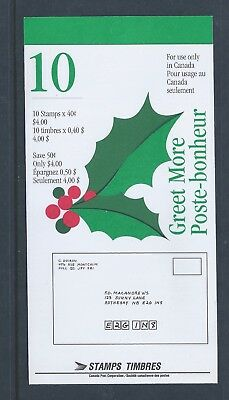 Canada Booklet 1995 Christmas Greet More #BK186b MNH ** Free Shipping **