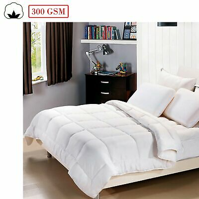 100% Cotton 300gsm Summer Weight Doona / Quilt / Duvet MACHINE WASHABLE