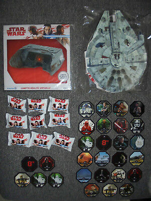 ★ Collection Star Wars ★ Classeur + Lunettes Vr + 9 Micropopz + 28 Cosmic Shells