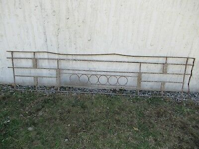 Antique Victorian Iron Gate Window Garden Fence Architectural Salvage Door #077