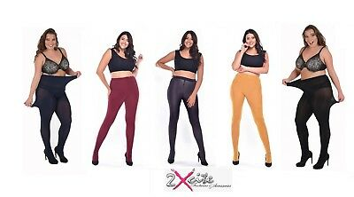 84e9875ef2e55 Pamela Mann Curvy Stretch 90 Denier Opaque Specialist Tights Plus Size Upto  5Xl