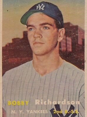 Topps 1957 #286 Bobby Richardson-Rookie Card-New York Yankees