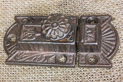 "Cabinet catch jelly Cupboard Latch rustic copper cast iron old 3"" vintage 1880's"