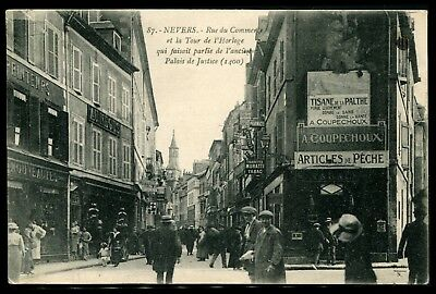 Lot N°9527 FRANCE - CARTE POSTALE - Nevers - Rue du Commerce Tour de l'Horloge