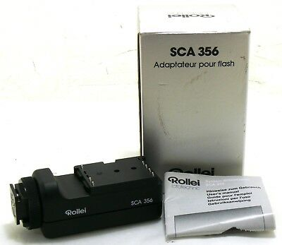 Rollei SCA 356 flash adapter blitzadapter 97661 207065 boxed MINT-