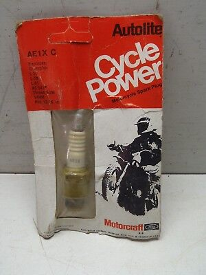 Vintage NOS New Autolite Cycle Power Spark Plug AE1X C Motorcycle Advertising