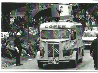 carte postale - CITROEN TYPE H HY TUB PUB COPER TOUR DE FRANCE 1966