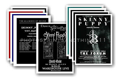 SKINNY PUPPY - 10 promotional posters  collectable postcard set # 1