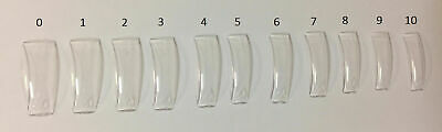 Lamour Clear Nail Tips - 50ct/bag - 14495 (CHOOSE FROM SIZE 0-10) *