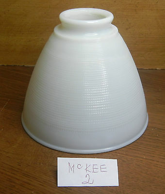 "4-7/8""x 2-1/4""McKEE2 TORCHIERE PENDANT LAMP SHADE WHITE OPALESCENT CRYSTAL 6""TOP"