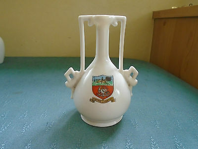 Rare Large Aintree Liverpool Crest - Fancy Vase - Crested China
