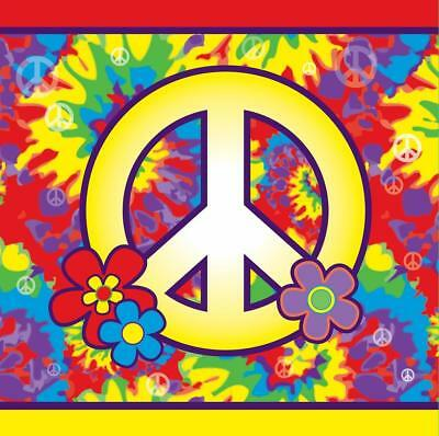 Hippie Decor 60/'s Decades Woodstock Theme Party Wall Room Decorating Kit