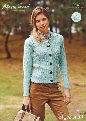 9a417c458 Stylecraft Ladies Cardigans Alpaca Tweed Knitting Pattern 9013 DK (SCP-9013)