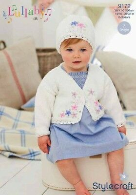 SCP... Stylecraft Baby Cardigan /& Sweater Lullaby Knitting Pattern 9170 DK