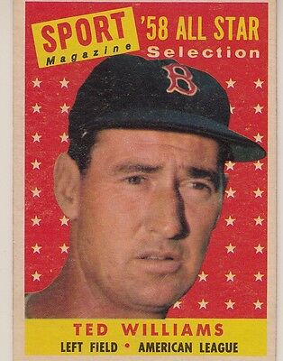 Topps 1958 #485 Ted Williams-Hall of Famer-Boston Red Sox-All Star