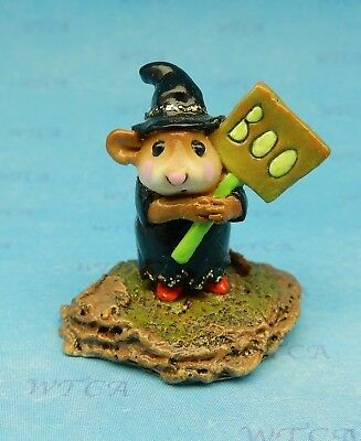 LITTLE BOO BOO by Wee Forest Folk, WFF# M-214, Black, Retired Witch Mouse