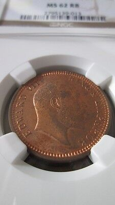 India British 1/4 Anna 1903(C) NGC MS 62 RB