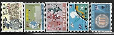 South Vietnam #496-500 Surcharged Set of 5 1974-75 MNH