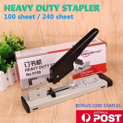 100/240 Sheet Bookbinding Stapling Capacity Heavy Duty Metal Stapler 1000 Staple