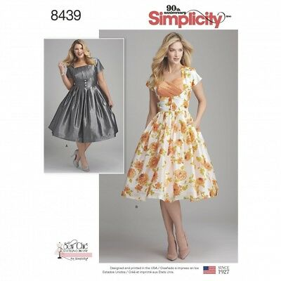 SIMPLICITY LADIES PLUS Size Sewing Pattern 8439 Vintage Style ...
