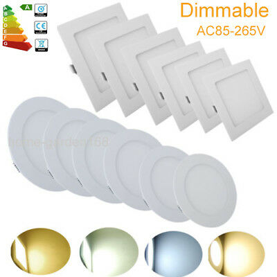 Dimmable 6W 9W 12W 21W Ultra Slim Recessed LED Flat Panel Ceiling Spot Lights