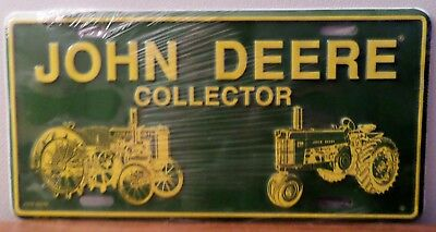 JOHN DEERE TRACTOR COLLECTOR,  Aluminum License Plate, NEW IN PACKAGE