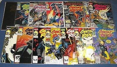 14 Issues Of Ghost Rider #2, 6, 8-10, 13, 15, 20, 25, 28, 29, 31, 35 & 40