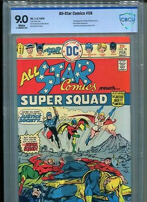 ALL STAR COMICS 58 CBCS 9.0  1st APP POWER GIRL 1976