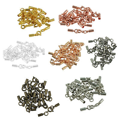 84pcs Bulk Crimp Ends Bell Tube Bail Tips Connector DIY Making Findings