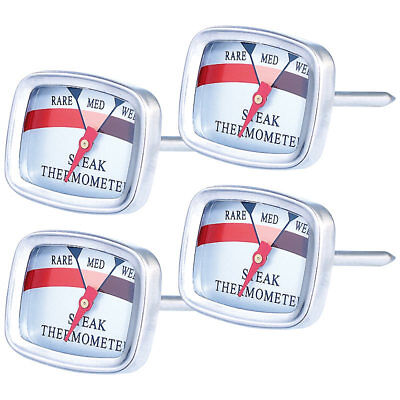 Koch-Thermometer: 4er-Set Steak-Thermometer (Einstech-Thermometer)
