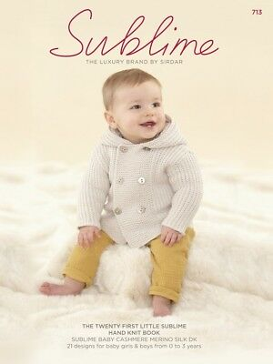 e704f43df SUBLIME THE TWENTY Sublime Baby Hand Knit Book 713 Knitting Pattern ...
