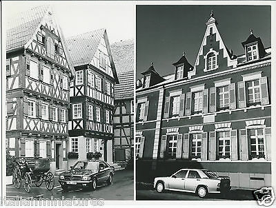 Mercedes Benz S EL Coupe and 190 Gottlieb Daimler and Karl Benz Homes Photograph