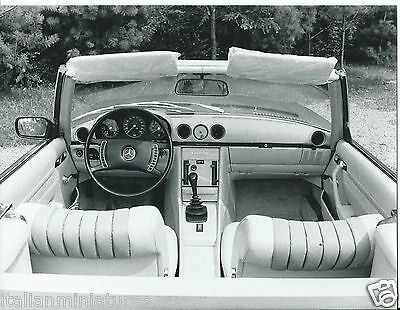 Mercedes Benz 350 SL Cabriolet 1972 Interior Dashboard Photograph Sunvisors