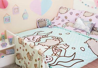 PUSHEEN MERMAID Duvet Reversible Bed Set Primark SINGLE DOUBLE KING THROW